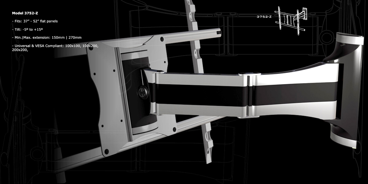 ULNA Cantilever Flat Panel Mount Systems