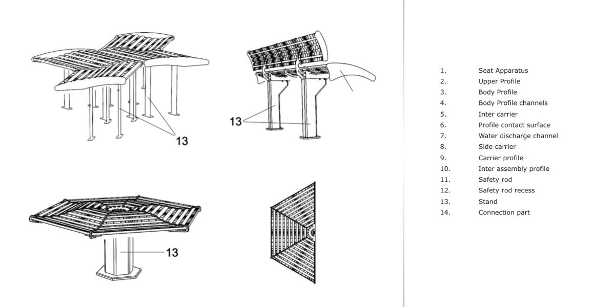 WELLE Aluminum Bench Collection